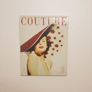 Couture Magazine Metal Wall Art
